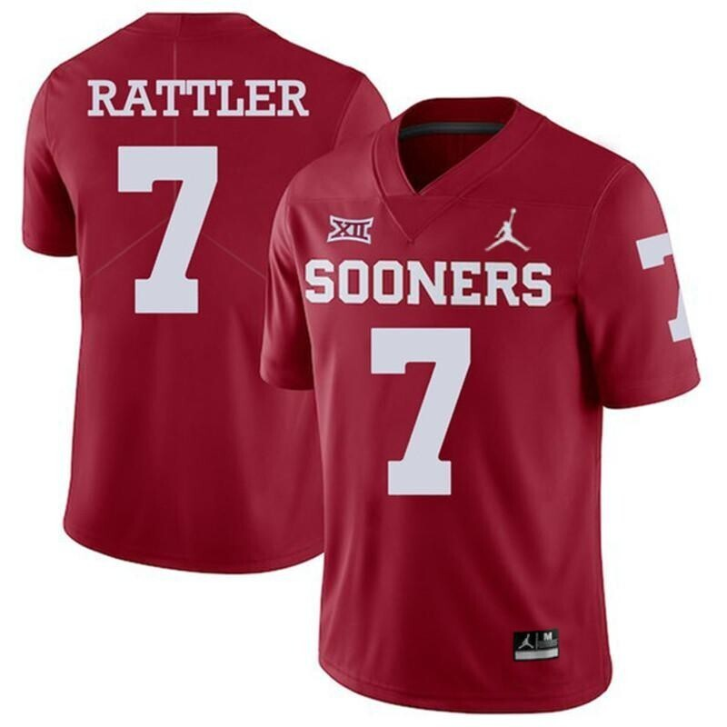 Oklahoma Sooners #7 Spencer Rattler Jersey Red College Football