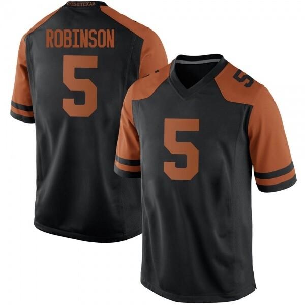 Texas Longhorns #5 Bijan Robinson College Football Jersey Black