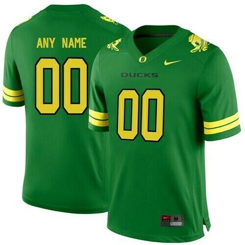 Oregon Ducks Custom Jersey College Football Green