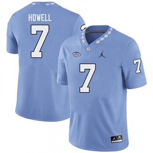 North Carolina Tar Heels #7 Sam Howell Jersey College Football Blue