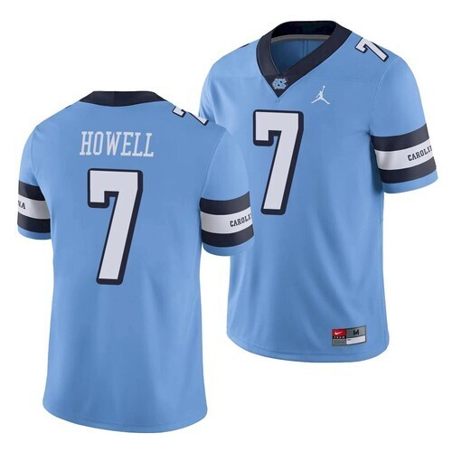 North Carolina Tar Heels #7 Sam Howell Jersey Blue College Football