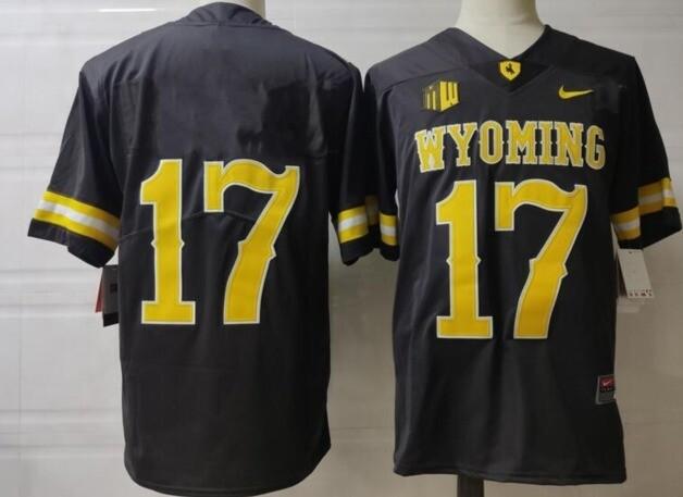 Wyoming Cowboys #17 Josh Allen No Name College Football Jersey Coffee