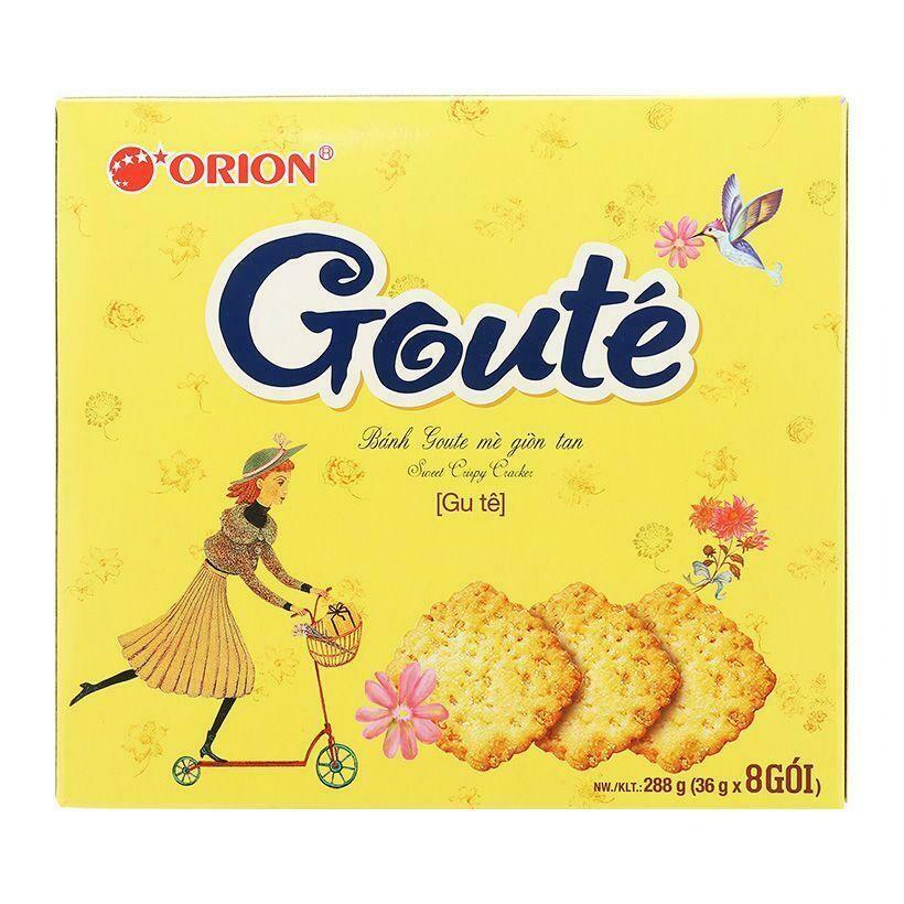 Bánh Goute mè - hộp 8 gói (288g) - Có bán thùng 8 hộp| SHOPNOW