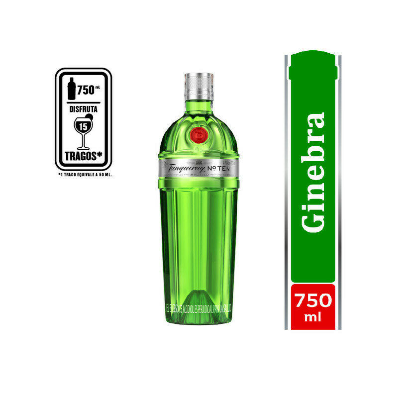 GINEBRA TANQUERAY TEN 750 ML