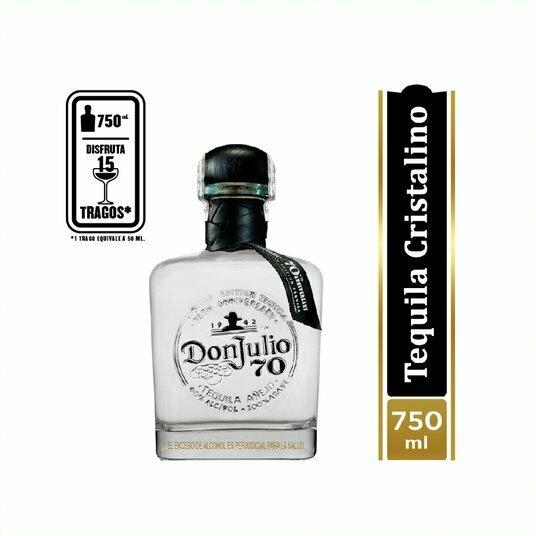 TEQUILA DON JULIO 70 CRISTALINO 750 ML.
