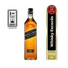 WHISKY JOHNNIE WALKER BLACK LABEL 700 ML