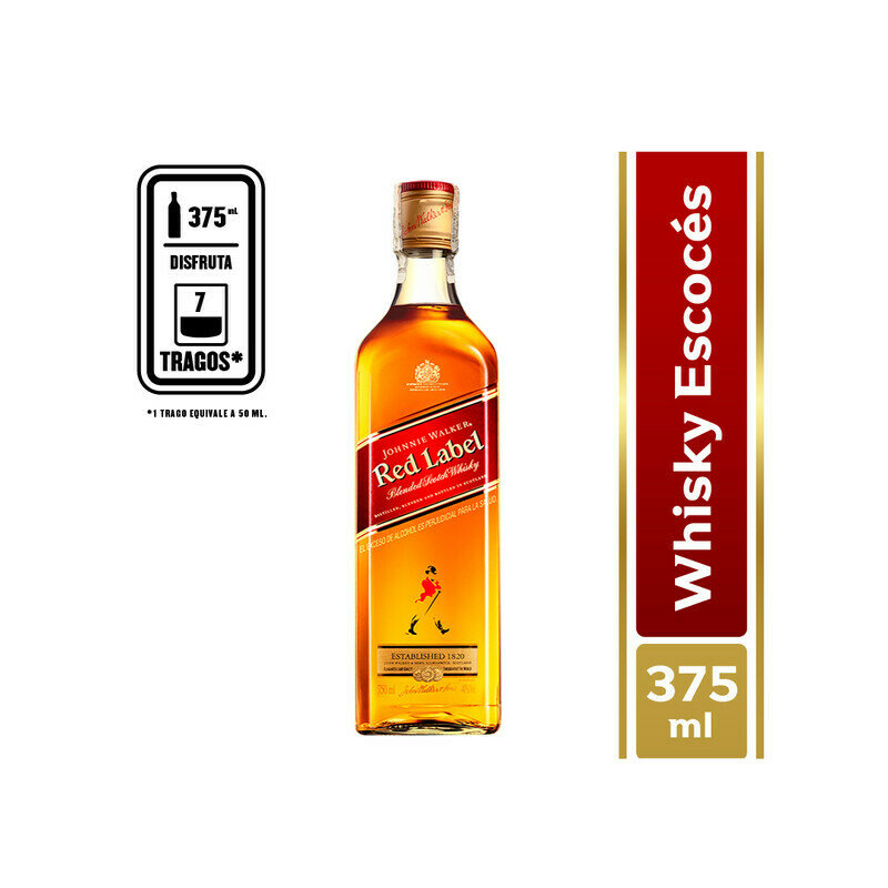 WHISKY JOHNNIE WALKER RED 375 ML