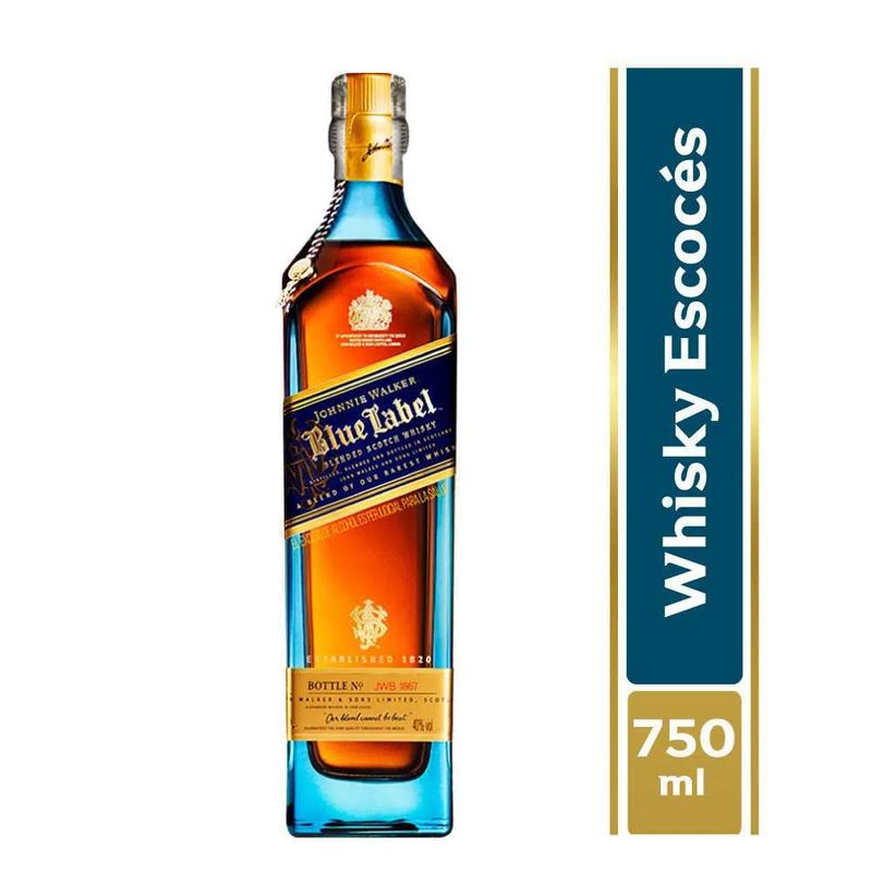 WHISKY JOHNNIE WALKER BLUE LABEL 750 ML