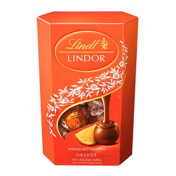 CHOCOLATE LINDOR ORANGE 200 GR