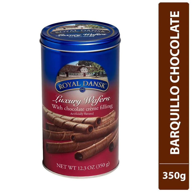 BARQUILLO ROYAL DANSK CHOCOLATE 350 GR
