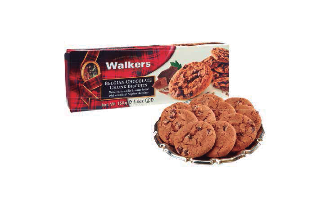 GALLETAS WALKERS CHOCOLATE BELGA 150 GR