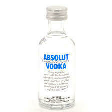 VODKA  ABSOLUT MINI 50 ML