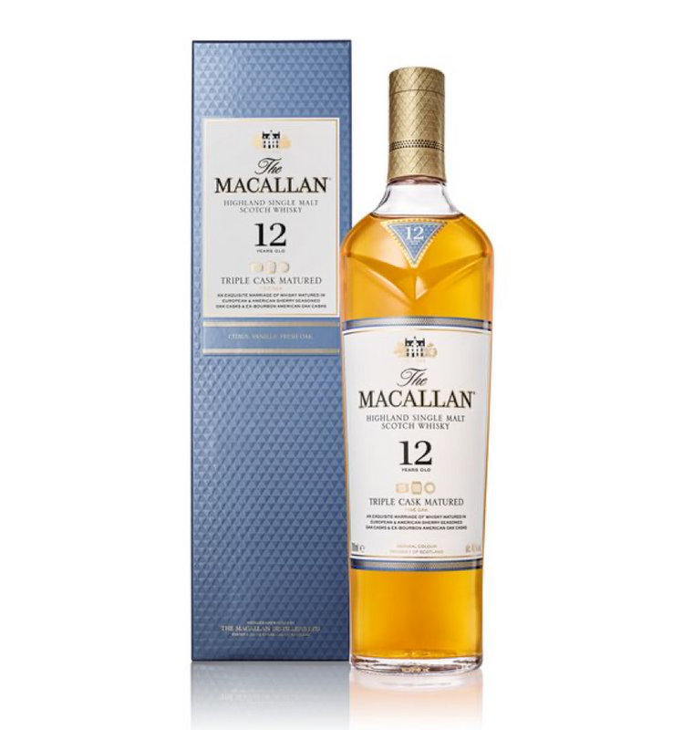 WHISKY MACALLAN TRIPLECASK MATURED 12 AÑOS 700 ML