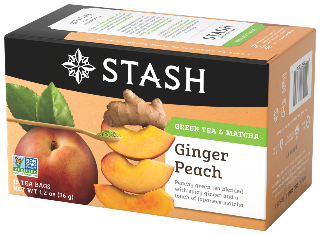 STASH TEA VERDE GINGER PEACH X 18 SOBRES