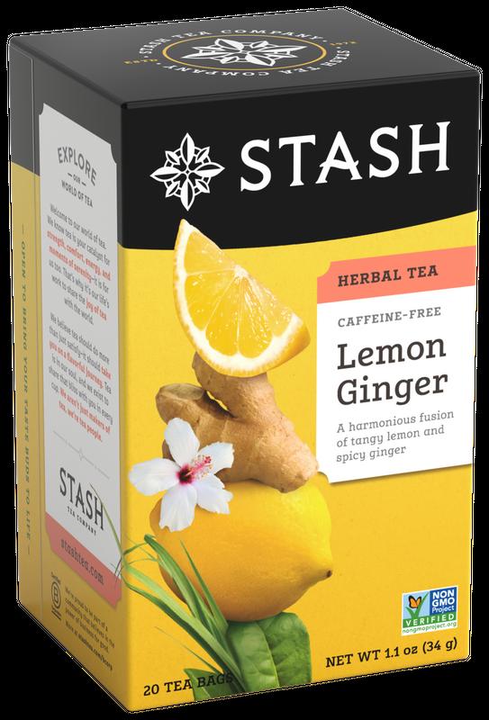 STASH TEA HERBAL INFUSION LEMON GINGER X 20 SOBRES