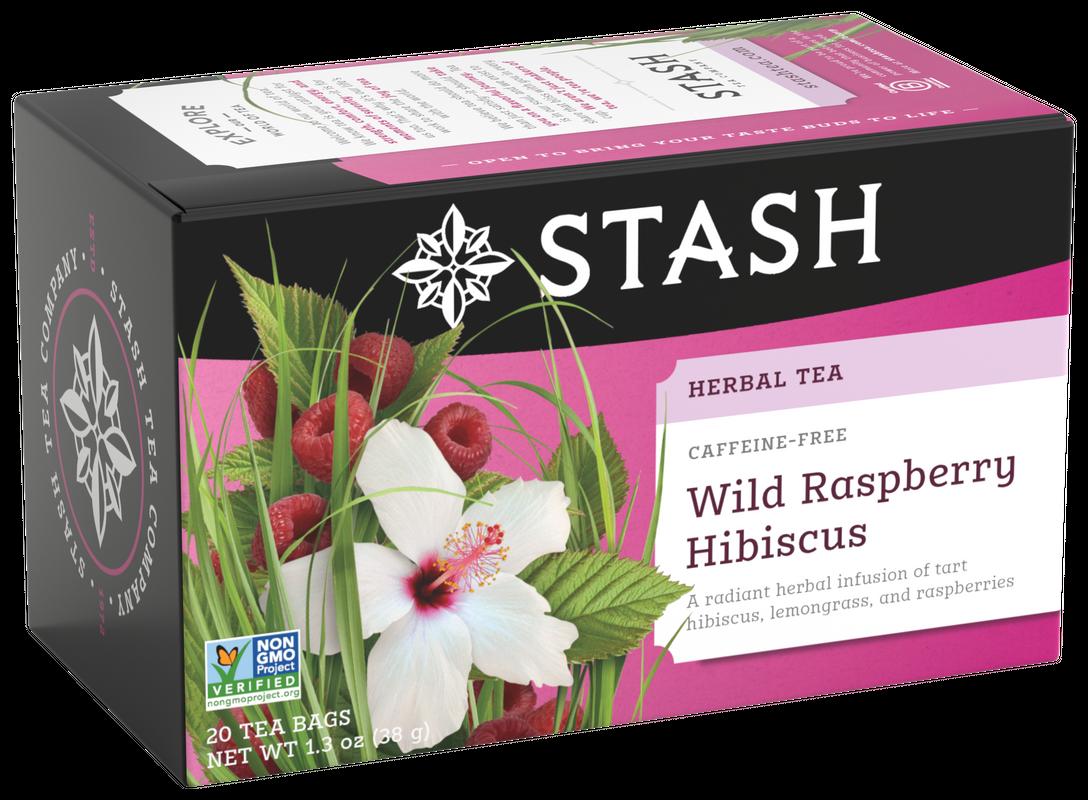STASH TEA HERBAL INFUSION WILD RASPBERRY X 20 SOBRES