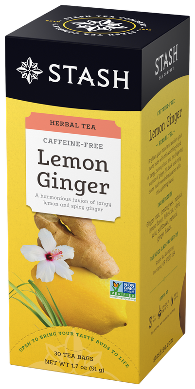 STASH TEA HERBAL INFUSION   LEMON GINGER X 30 SOBRES