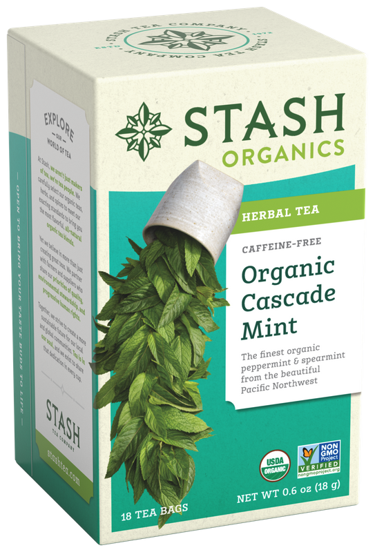 ORGANIC STASH TEA CASCADE  MINT X 18 SOBRES
