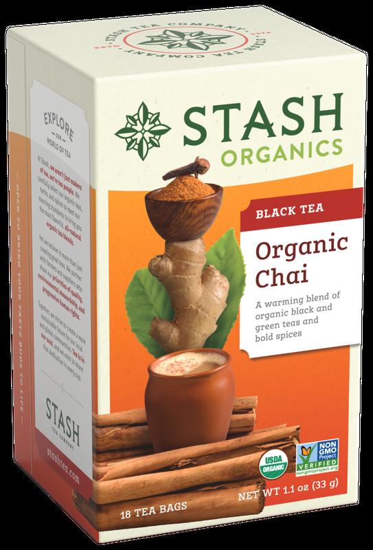 ORGANIC STASH TEA CHAI BLACK TEA X 18 SOBRES