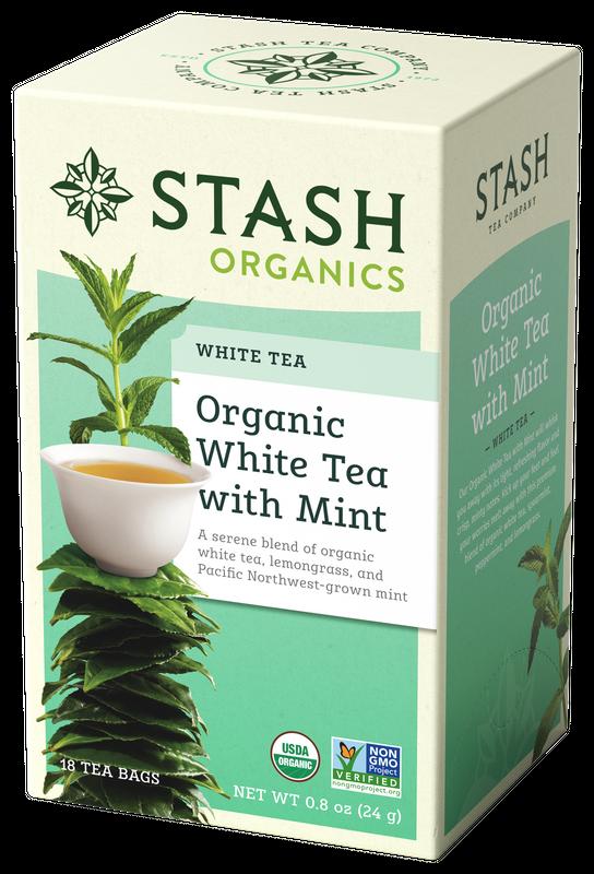 ORGANIC STASH WHITE TEA WITH MINT X 18 SOBRES