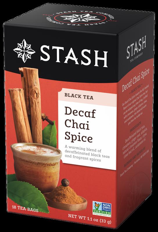 DECAFF STASH TEA  CHAI SPICE  x 18 SOBRES