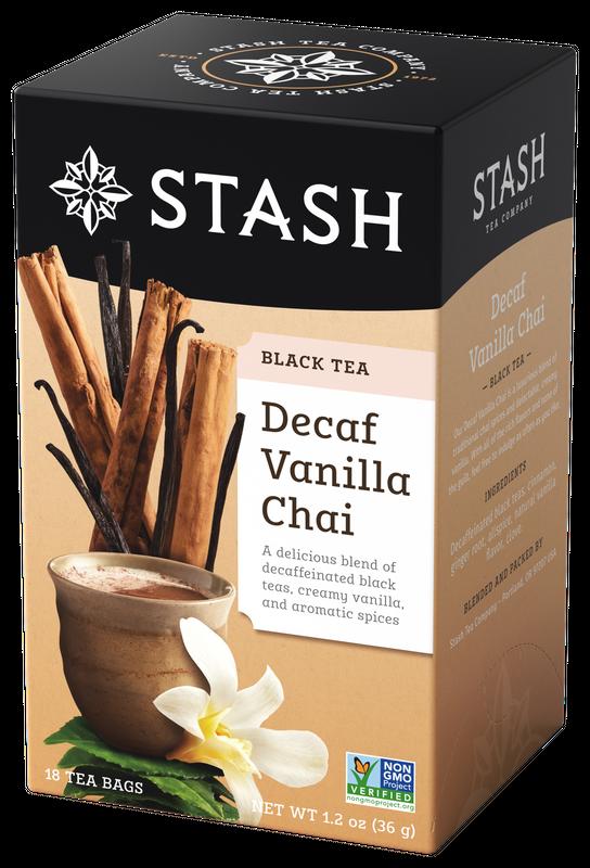 DECAFF STASH TEA  VANILLA CHAI TEA X 18 SOBRES
