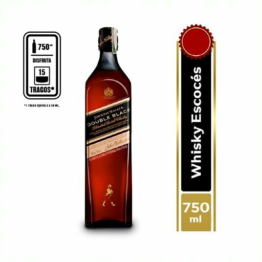 WHISKY JOHNNIE WALKER DOUBLE BLACK 700 ML