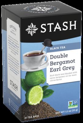 STASH TEA NEGRO DOUBLE BERGAMOT EARL GREY X18 SOBRES
