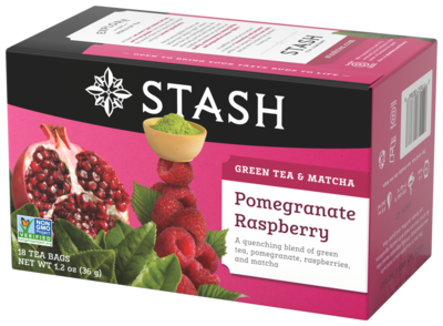 STASH TEA VERDE POMEGRANATE RASPBERRY X 18 SOBRES