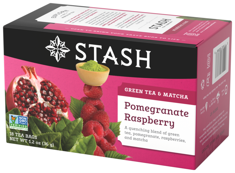 STASH TEA VERDE POMEGRANATE RASPBERRY X 18 SOBRES