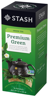 STASH TEA VERDE PREMIUM GREEN X 30 SOBRES