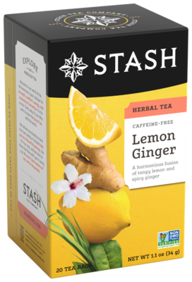 STASH TEA HERBAL INFUSION LEMON GINGER X 20 SOBRES