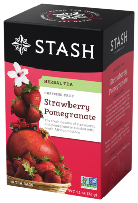 STASH TEA HERBAL INFUSION STRAWBERRY POMEGRANATE X 20 SOBRES
