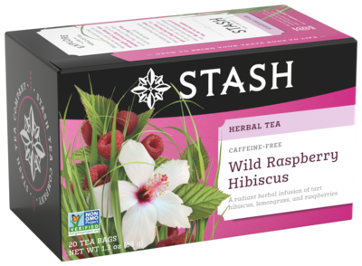 STASH TEA HERBAL INFUSION WILD RASPBERRY X 20 SOBRES