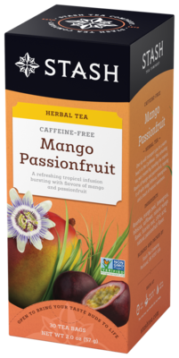 STASH TEA HERBAL INFUSION   MANGO PASSION X 30 SOBRES