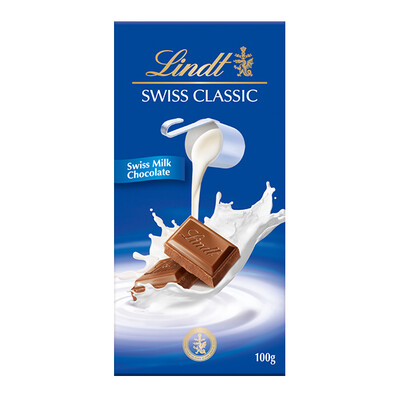 TABLETA LINDT SWIS MILK100 GR
