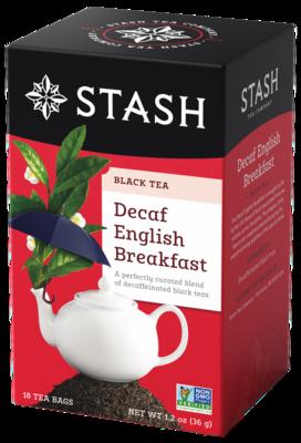 DECAFF STASH TEA  ENGLISH  BREAKFAST X 18 SOBRES