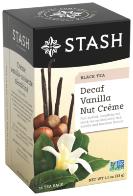 DECAFF STASH TEA  VANILLA NUT  CREME X 18 SOBRES