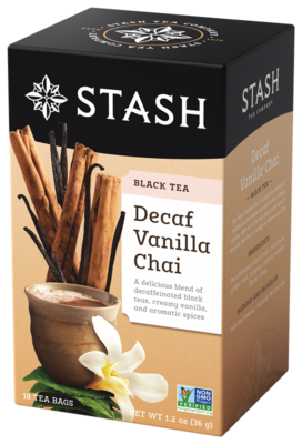 DECAFF STASH TEA  VANILLA CHAI TEA X 18 SOBRES