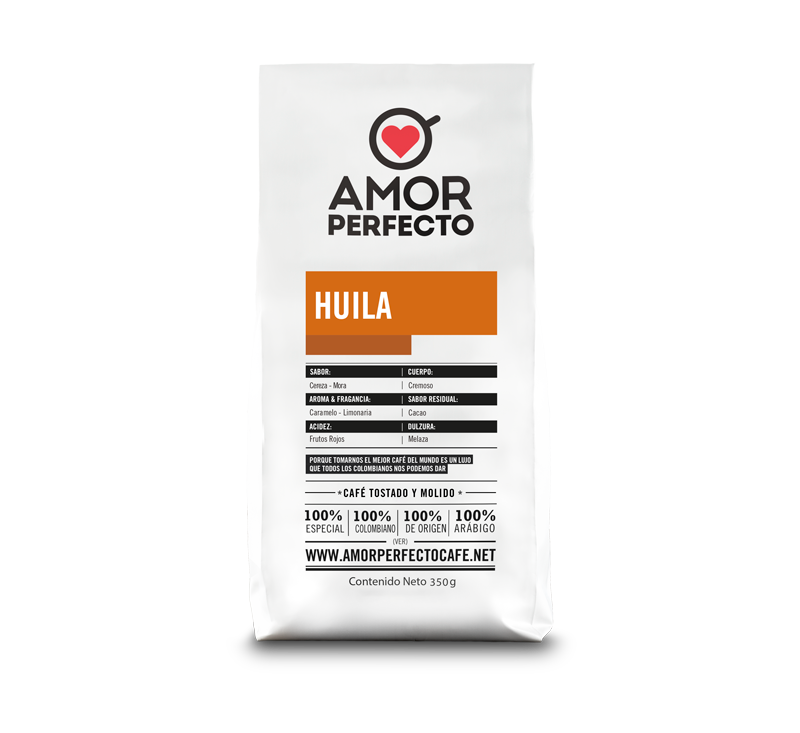 CAFÉ AMOR PERFECTO ORIGEN HUILA 500 GR