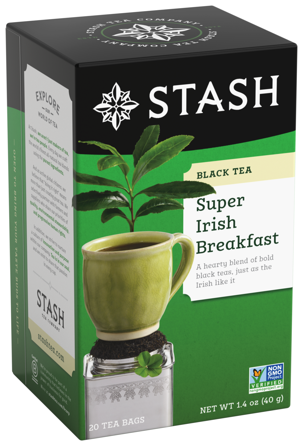 STASH TEA NEGRO SUPER IRISH  BREASKFAST x 20 SOBRES