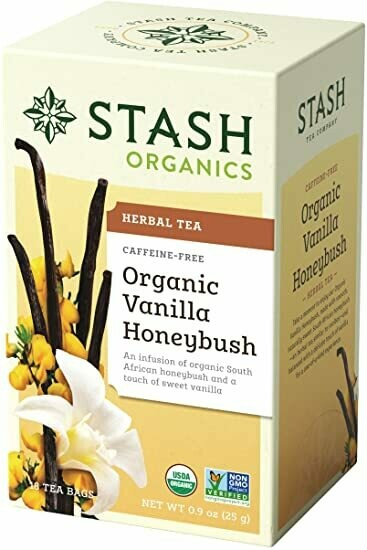 ORGANIC STASH TEA VANILLA HONEYBUSH X 18 SOBRES