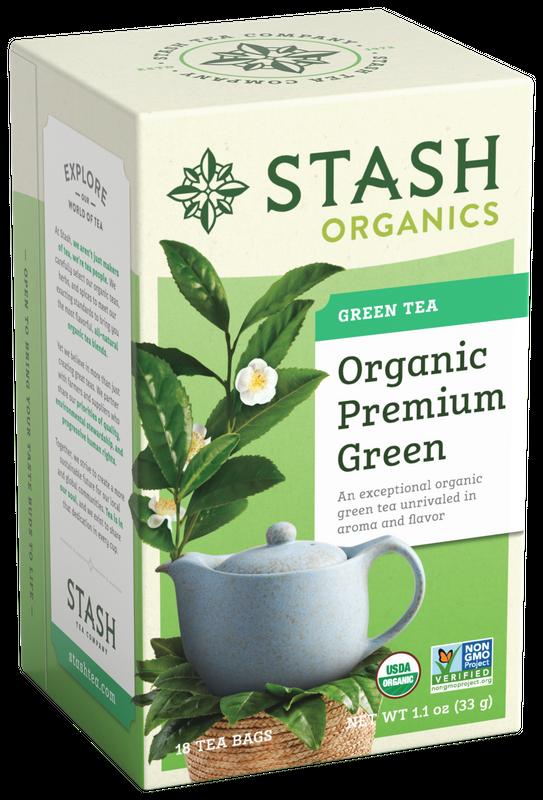 ORGANIC STASH TEA PREMIUM GREEN TEA X 18 SOBRES