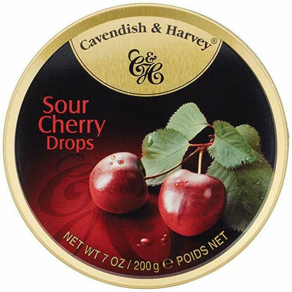 DULCES CAVENDISH &HARVEY  SOUR CHERRY DROPS X 200 GR
