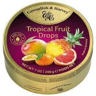 DULCES CAVENDISH &HARVEY  TROPICAL FRUIT DROPS X 200 GR