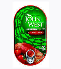 ARENQUES  JOHN WEST  TOMATE X 160 GR