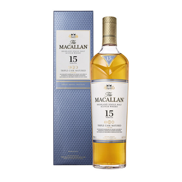WHISKY MACALLAN TRIPLE CASK MATURED 15 AÑOS 700 ML