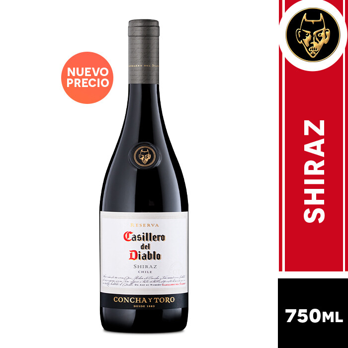 VINO CASILLERO DEL DIABLO SHIRAZ 750 ML