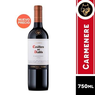 VINO CASILLERO DEL DIABLO  CARMENERE 750 ML