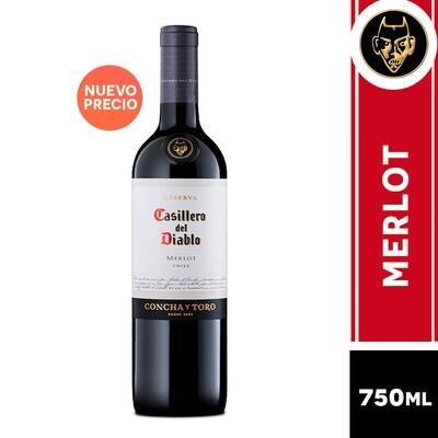 VINO CASILLERO DEL DIABLO MERLOT 750 ML